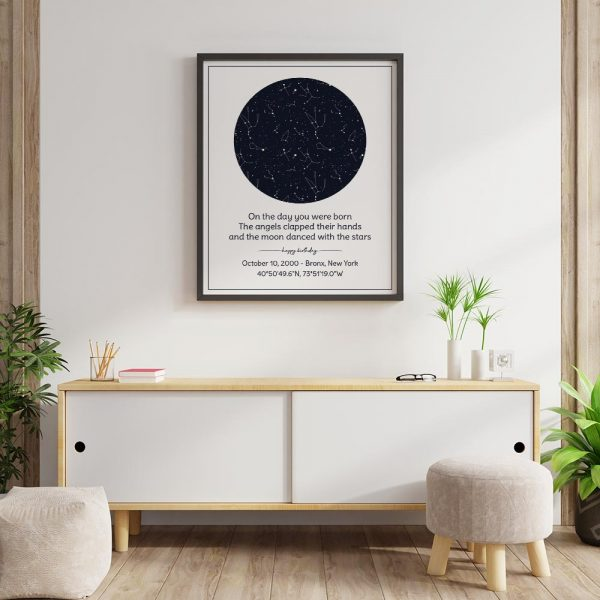 Birthday Custom Star Map Framed Print