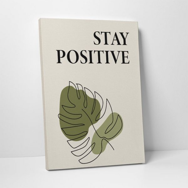 stay positive canvas print - part of set of 3 canvas prints