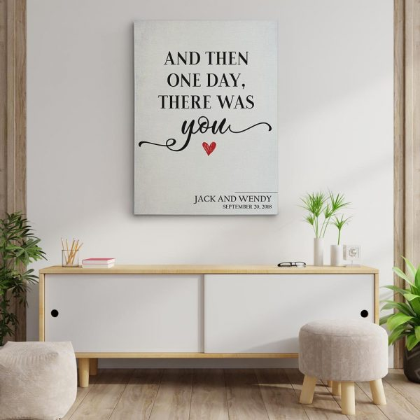 And Then One Day There Was You - Custom Name Canvas Print
