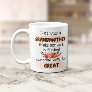 Great Grandma Coffee Mug for grandma - pregnancy announcement idea