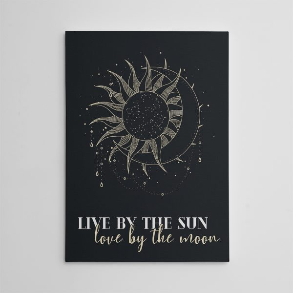 Live by the sun love by the moon inspirational canvas wall art