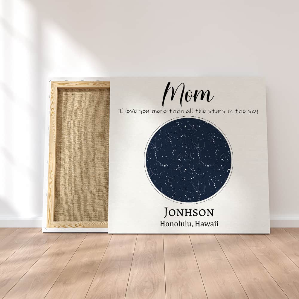 Custom Constellation Maps Canvas Print - Gift for Mom | 365Canvas