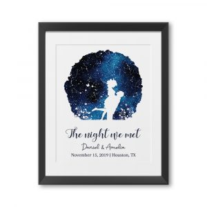 The Night We Met Custom Star Map Framed Print
