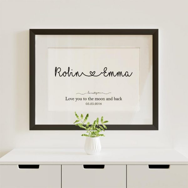 Love you to the moon and back custom canvas print