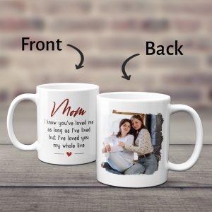 Mom I've Loved You My Whole Life Custom Photo Mug