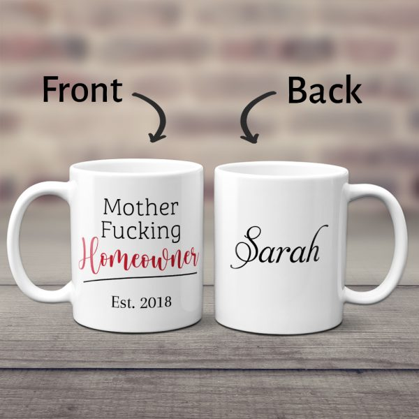 Mother Fucking Homeowner Custom Mug With Name And Est Year