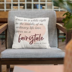 once in awhile in the middle of an ordinary life custom pillow