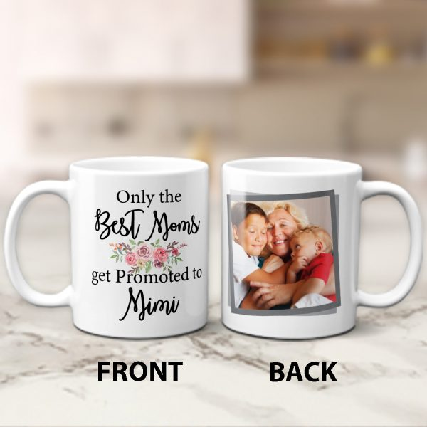Only The Best Moms Get Promoted To Grandma Custom Photo Collage Mug