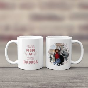 badass mom photo coffee mug - gift for mom