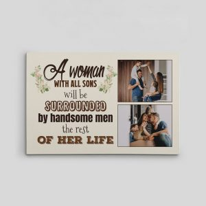 A Woman With All Sons custom photo canvas print