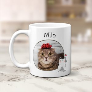 Custom Cat Photo Mug