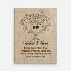 Being Deeply Loved By Someone Gives You Strenth Custom Canvas Print