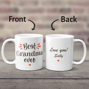 Best Grandma Ever Custom Mug