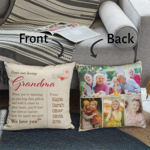Dear Our Loving Grandma Custom Photo And Name Pillow
