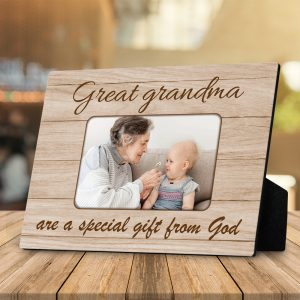 Great Grandma Are A Special Gift From God Custom Photo Desktop Plaque