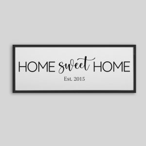 Home Sweet Home Established Sign Canvas Print