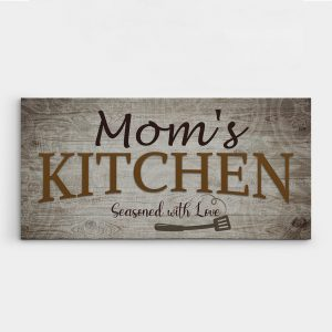 Mom's Kitchen Seasoned With Love Canvas Print