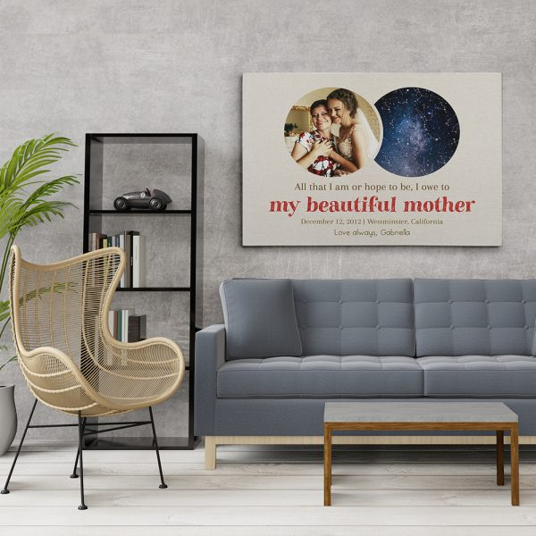 My Beautiful Mother And Star Map Canvas Print