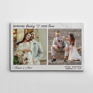 nothing fancy just love custom photo canvas print - wedding anniversary gift idea