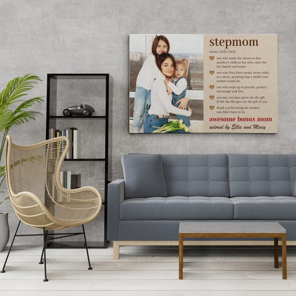 a custom photo canvas print with stepmom definition