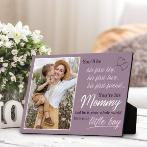 You Will Be His First Kiss custom desktop plaque