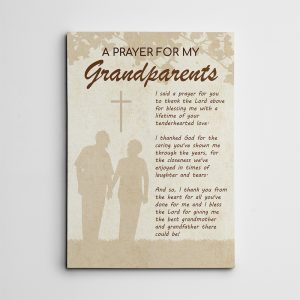"""""""A Prayer for Grandparents"""" Canvas Sign"""