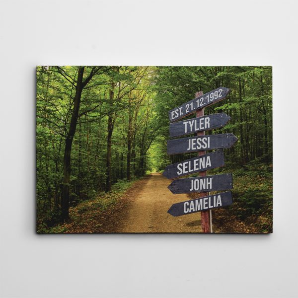 Family Street Sign canvas print
