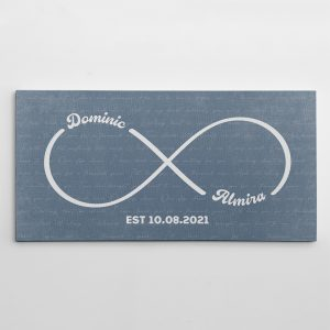 Personalized Infinity Symbol Canvas Print With Song Lyrics