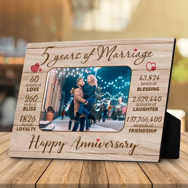 5 Years of Marriage Plaque