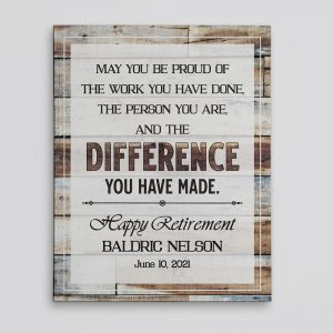 Difference You Have Made Canvas Print