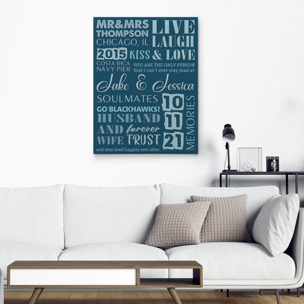 Husband and Wife Canvas Print