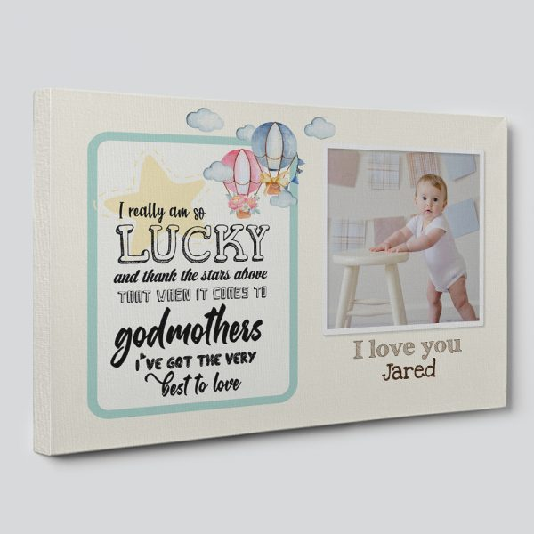Godmother I Really Am So Lucky And Thank The Stars Above Personalized Canvas Print
