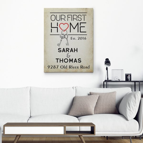 Our First Home Custom Canvas Print