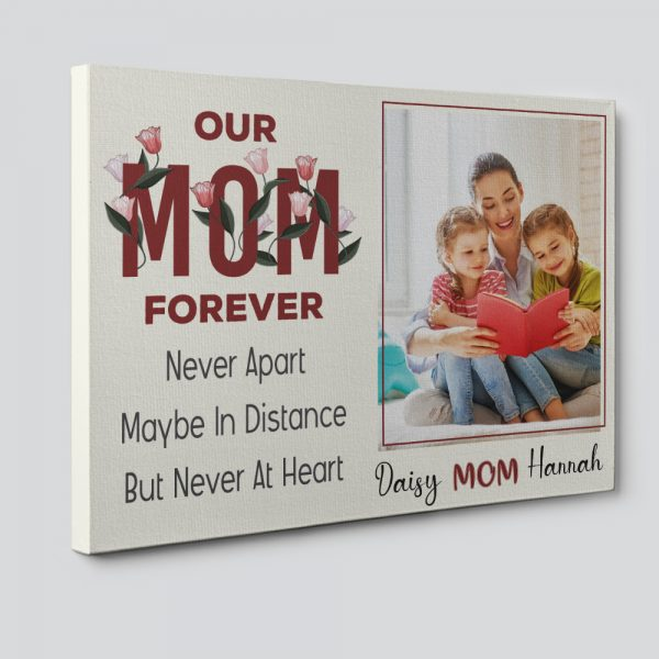 Our Mom Forever Custom Photo Canvas Print
