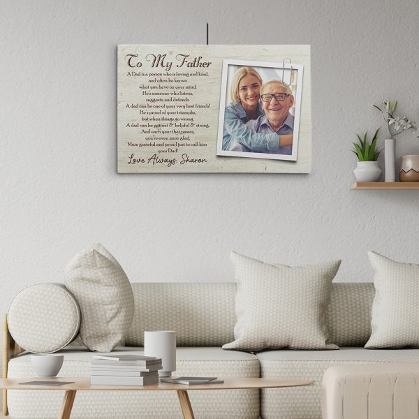 What Is A Dad Poem Photo Canvas Print