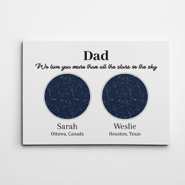 Custom Star Map Personalized Father's Day Gift