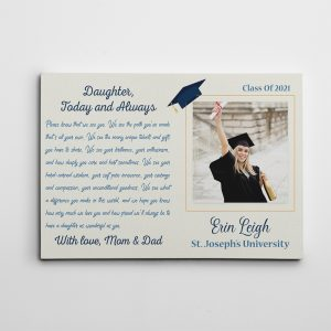 Graduation Letter To Daughter Photo Canvas Print