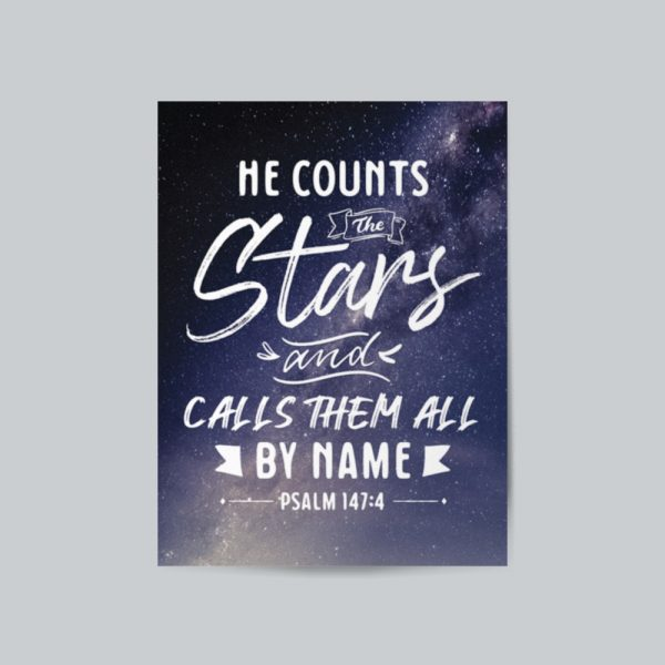He Counts The Stars And Calls Them All By Name canvas print