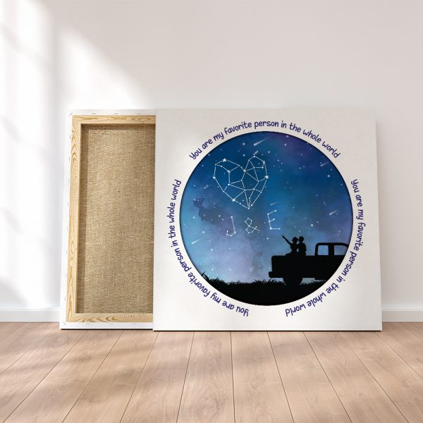 """""""You Are My Favorite Person In The Whole World"""" Star Map Canvas Print"""