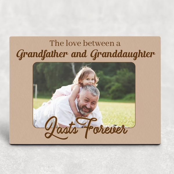 Love Between a Grandfather and Granddaughter Lasts Forever Desktop Photo Plaque
