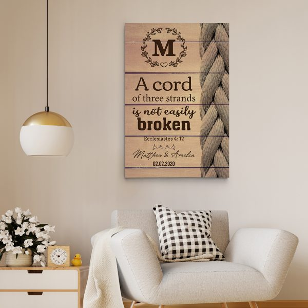 A Cord Of Three Strands Is Not Easily Broken Custom Canvas Print
