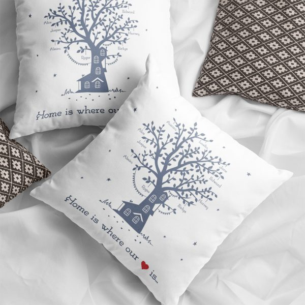 Personalized Family Tree Suede Pillow