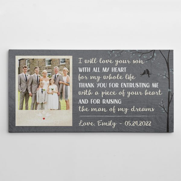 I Will Love Your Son With All My Heart Canvas Print