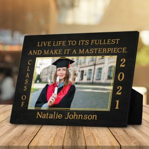 Live Life To Its Fullest And Makes It A Masterpiece Custom Photo Plaque