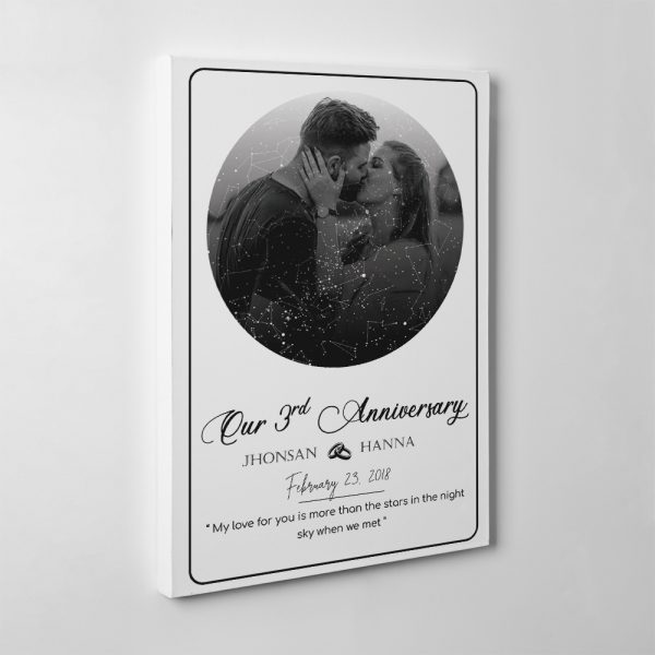 My Love For You Is More Than The Stars In The Night Sky When We Met Custom Canvas Print