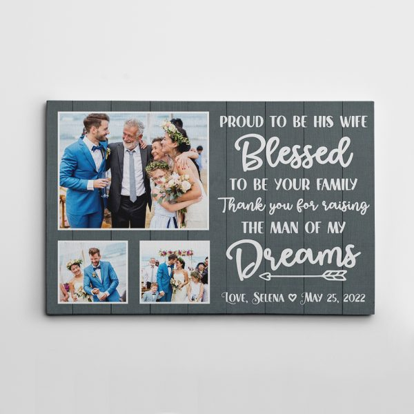 Proud To Be His Wife Canvas Print