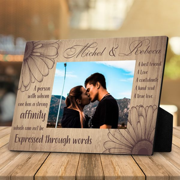 5th Anniversary What Is A Soulmate Desktop Photo Plaque