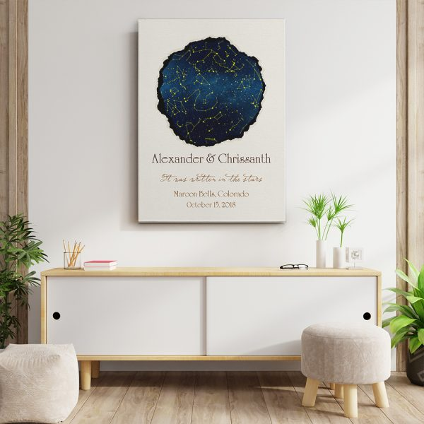 It Was Written In The Stars Star Map Canvas Print