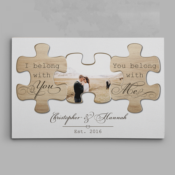 I Belong With You And You Belong With Me canvas print