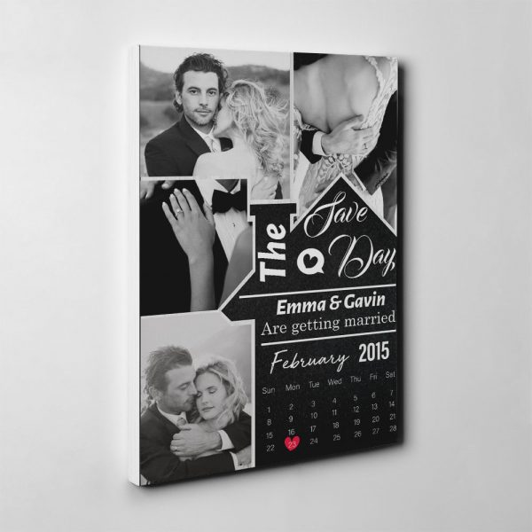 Save The Day Calendar and Photo Canvas Print